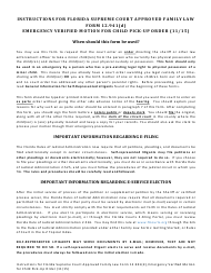 "Form 12.941(D) ""Emergency Verified Motion for Child Pick-Up Order"" - Florida"