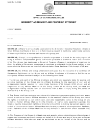 """Form S-4 """"Indemnity Agreement and Power of Attorney"""" - California"""