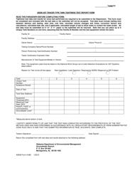 ADEM Form 483 Adem Ust Tracer Type Tank Tightness Test Report Form - Alabama