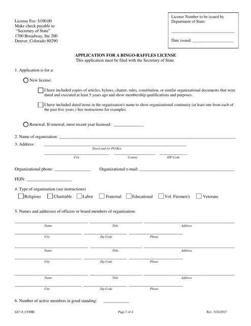 Form LE 7-8_COMB  Fillable Pdf