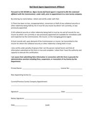 """""""Bail Bond Agent Appointment Affidavit"""" - Connecticut"""