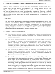 ADEM Form 35 Form Adem-Edwrs-2 - Terms and Conditions Agreement - Alabama