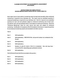 "ADEM Form 373 ""Excess Emission Monitoring Report"" - Alabama"