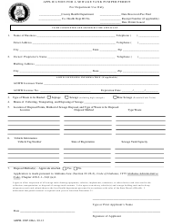 "Form CEP-1 ""Application for a Sewage Tank Pumper Permit"" - Alabama"