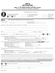 "Form CEP-2 ""Application for a Permit to Install (Repair) Small Flow Onsite Sewage Disposal System of Total Flow Less Than 1800 Gpd or Twelve Bedrooms or Less"" - Alabama"