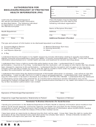 "Form ADPH-CHR-6A ""Authorization for Disclosure/Request of Protected Health Information (Phi)"" - Alabama"