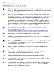 """""""Letter of Conditional Commitment - Non-water and Sewer Checklist"""" - Alabama"""