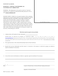 Domestic Limited Partnership (Lp) Statement of Correction - Alabama
