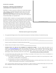 Domestic Limited Partnership (Lp) Amendment of Certificate of Lp - Alabama