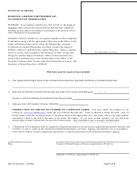 Domestic Limited Partnership (Lp) Statement of Termination - Alabama