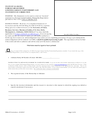 Foreign Registered Limited Liability Partnership (Llp) Statement of Correction - Alabama