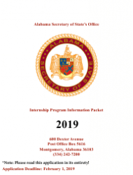 2019 Internship Program Information Packet - Alabama