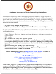 2019 Internship Program Information Packet - Alabama, Page 7