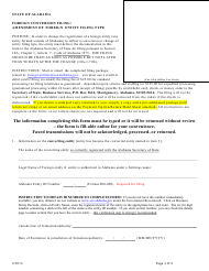 Foreign Conversion Filing - Amendment of Foreign Entity Filing Type - Alabama
