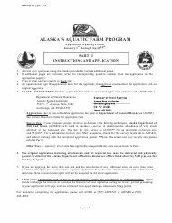 """Form 102-4005 """"Aquatic Farm Program Application"""" - Alaska"""