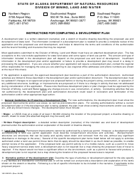 "Form 102-DEVPL ""Development Plan"" - Alaska"