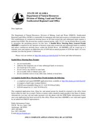 """Form 102-4057 """"Kasilof River Mooring Buoy-General Permit"""" - Alaska"""