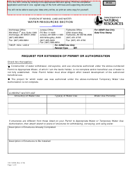 """Form 102-1003B """"Request for Extension of Permit or Authorization"""" - Alaska"""