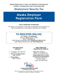 """Form TREG """"Alaska Employer Registration Form"""" - Alaska"""