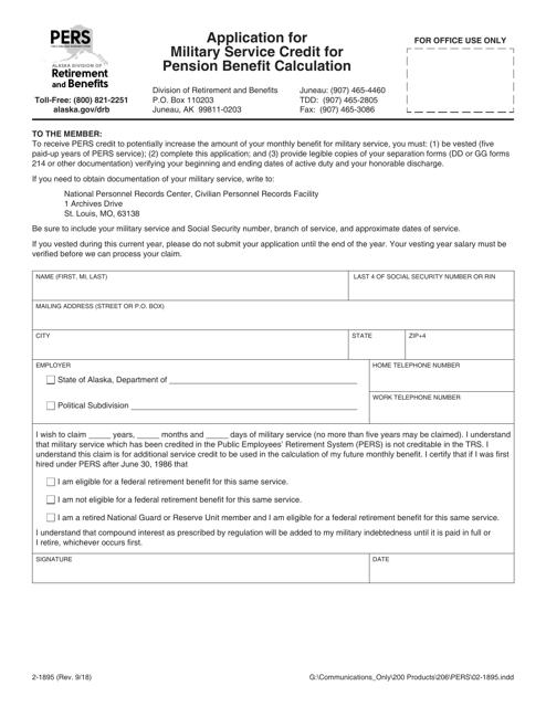 Form 2-1895 Fillable Pdf