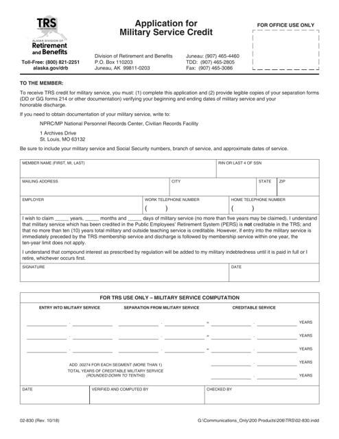 Form 02-830 Fillable Pdf
