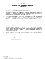 "Form Adm-229 ""Magistrate Judge Supplemental Application"" - Alaska"