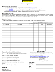 Form ADM-302 Forms Requisition - Alaska