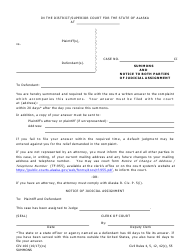 """Form Civ-100 """"Summons and Notice to Both Parties of Judicial Assignment"""" - Alaska"""