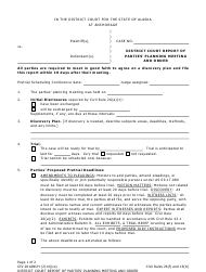 Form CIV-201ANCH District Court Report of Parties' Planning Meeting and Order - Municipality of Anchorage, Alaska