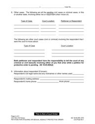 "Form CIV-750 ""Stalking or Sexual Assault Protective Order Packet"" - Alaska, Page 5"
