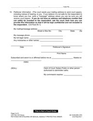 "Form CIV-750 ""Stalking or Sexual Assault Protective Order Packet"" - Alaska, Page 6"