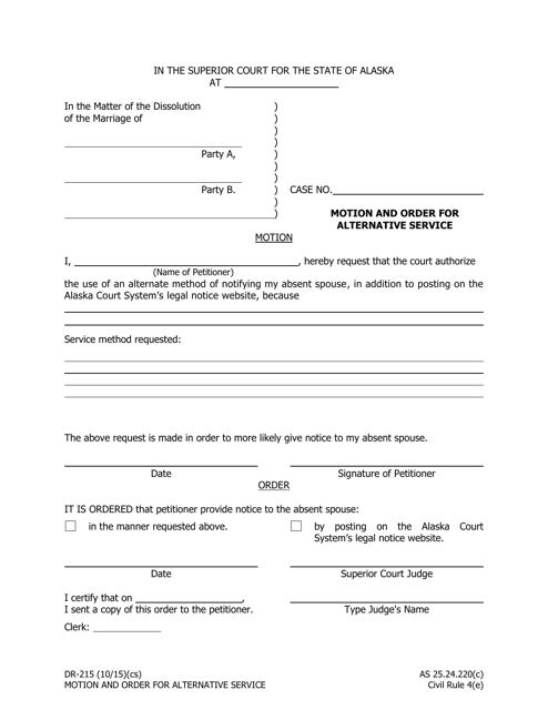 Form DR-215 Fillable Pdf