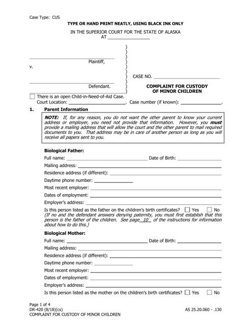 Form DR-420 Fillable Pdf