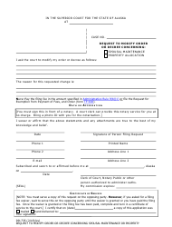 Form DR-735 Request to Modify Order or Decree Concerning Spousal Maintenance or Property Allocation - Alaska