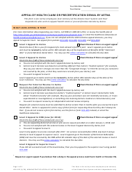 Form HCA-105 Appeal of Health Claim or Precertification Denial by Aetna - Alaska