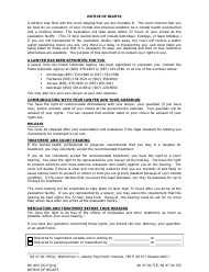 """Form Mc-405 """"Notice of Rights Upon Detention for Evaluation"""" - Alaska"""