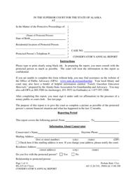"Form PG-225 ""Conservator's Annual Report"" - Alaska"