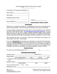 "Form PG-210 ""Guardianship Annual Report"" - Alaska"