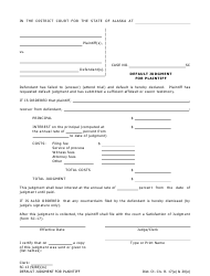 "Form SC-13 ""Default Judgment for Plaintiff"" - Alaska"