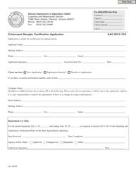 """Cottonseed Sampler Certification Application Form"" - Arizona"
