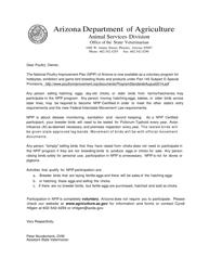 """Animal Disease Traceability Registration Form"" - Arizona"