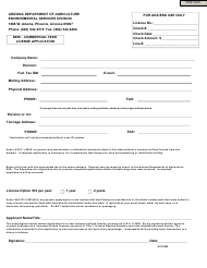 """""""New Commercial Feed License Application Form"""" - Arizona"""