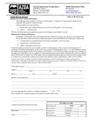 Public Records Request Form - Arizona