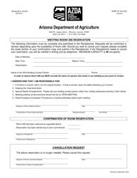 """Meeting Room 206 Reservation Form"" - Arizona"