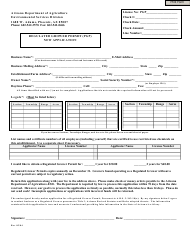 """""""Regulated Grower Permit (Pgp) New Application Form"""" - Arizona"""