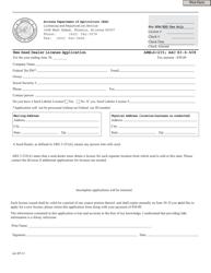 """New Seed Dealer License Application Form"" - Arizona"