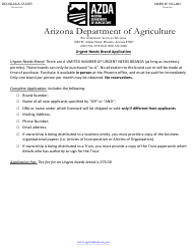 """Urgent Needs Brand Application Form"" - Arizona"