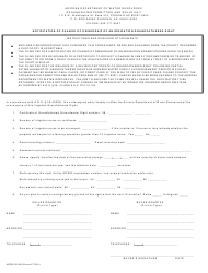 Form ADWR 58-500 Notification of Change of Ownership of an Irrigation Grandfathered Right - Arizona