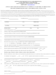 Form 469 Application for Development Plan Approval to Retire an Irrigation Grandfathered Right for a Non-irrigation (Type 1) Use - Arizona