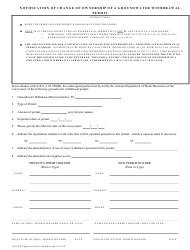 Form 520 Notification of Change of Ownership of a Groundwater Withdrawal Permit - Arizona